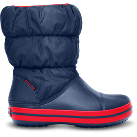 Crocs Winter Puff Stiefel Kinder navy/red